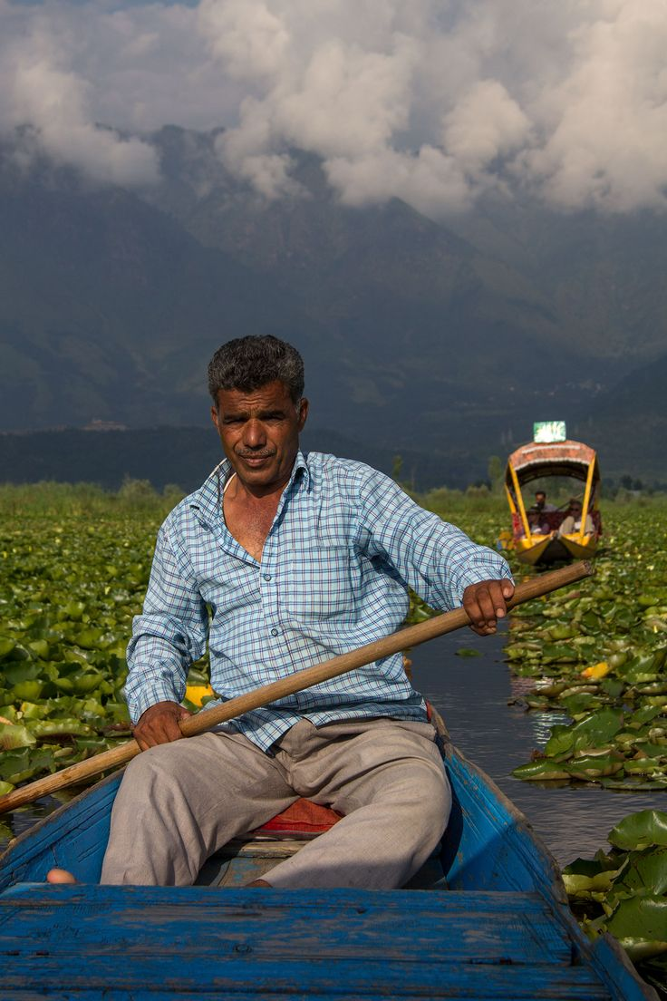 Boat man on Dal Lake, Srinagar