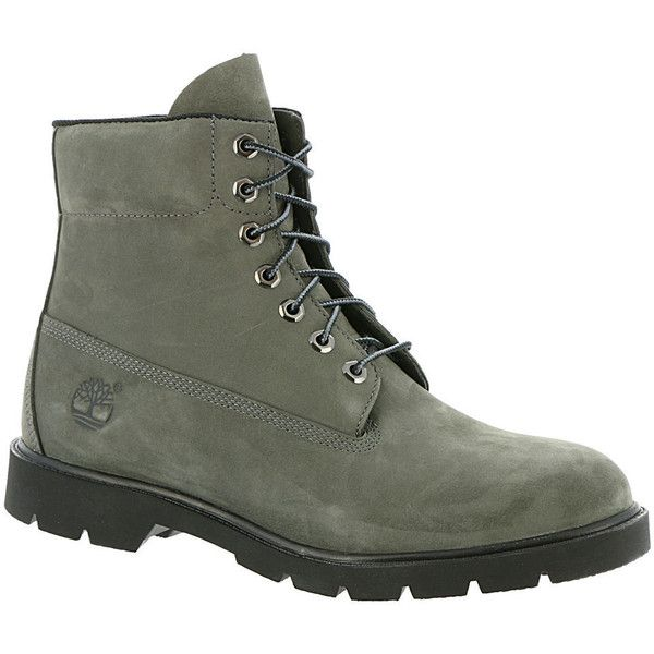 "Timberland Men's Icon 6"" Basic Grey Boot ($150) ❤ liked on Polyvore featuring men's fashion, men's shoes, men's boots, men's work boots, grey, mens boots, mens grey boots, mens waterproof work boots, timberland mens work boots and mens gray boots"
