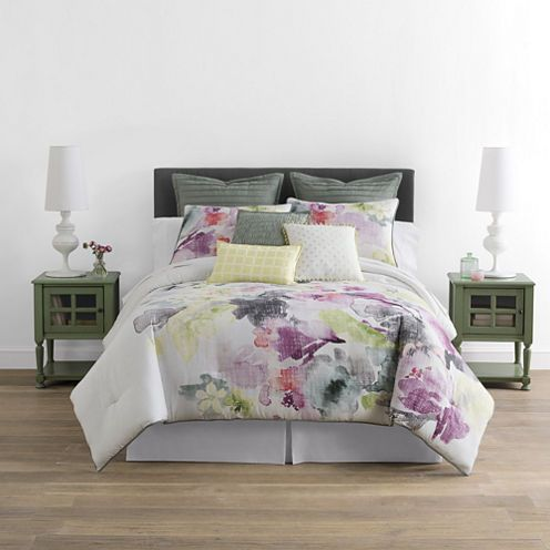 Buy Jcpenney Home Watercolor Floral 4 Pc Comforter Set Today At Jcpenney Com You Deserve Great Deals And We Comforter Sets Floral Comforter Sets Comforters