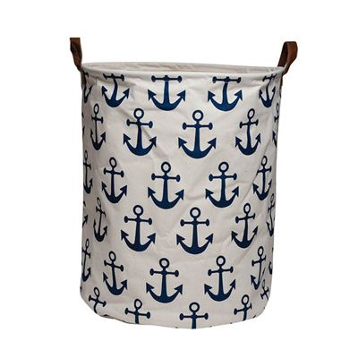 $29.95  https://www.theinfantboutique.com.au/interior/storage/ecd-canvas-storage-tub-anchors/  Make storing toys, laundry and more with ease with these fun and fresh canvas storage baskets from ECD.     Dimensions: 50 x 45cm