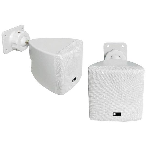 pure acoustics HT770 WH Mini Cube Speaker with Wall Bracket (White)