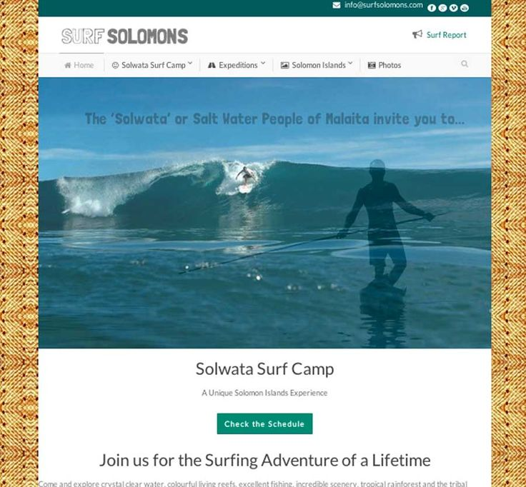 Surf Solomons is a website designed and developed by Wordpressit in 2014.