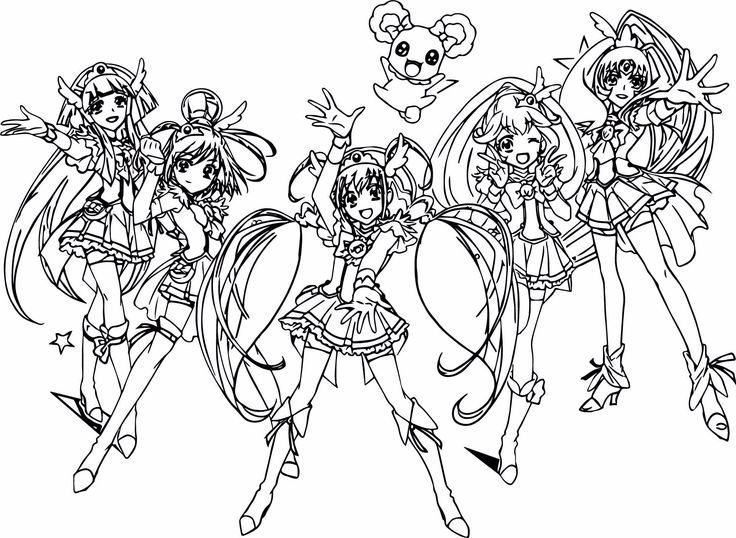 27+ Pretty Image of Glitter Force Coloring Pages