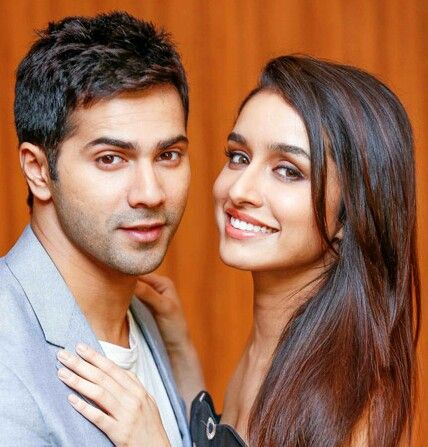 Shraddha Kapoor with co-starVarun Dhawanat a promotional event forABCD 2 (2015)