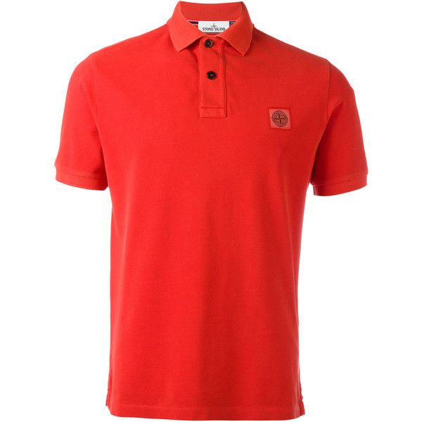 Stone Island logo patch polo shirt ($150) ❤ liked on Polyvore featuring men's fashion, men's clothing, men's shirts, men's polos, red, mens polo shirts, mens cotton shirts, mens red polo shirt, mens red shirt and men's cotton polo shirts