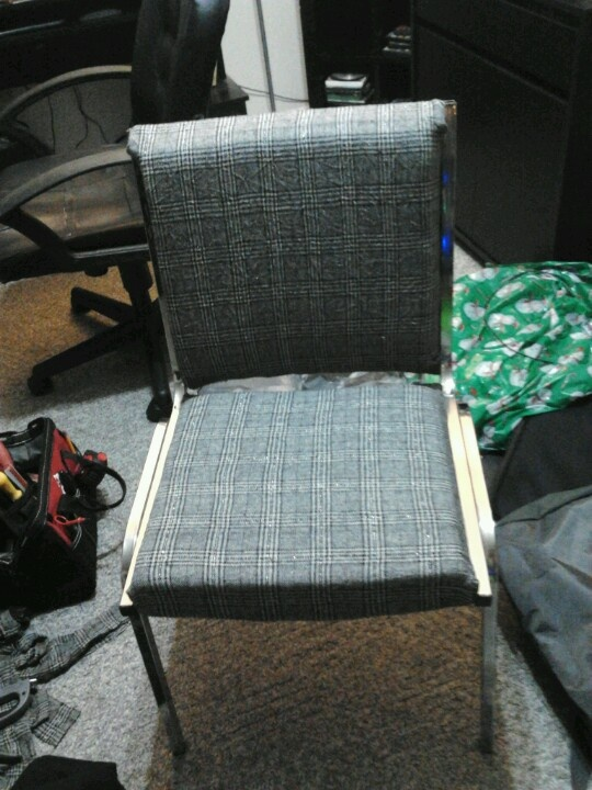 Re-upholstered office chair for my sewing room