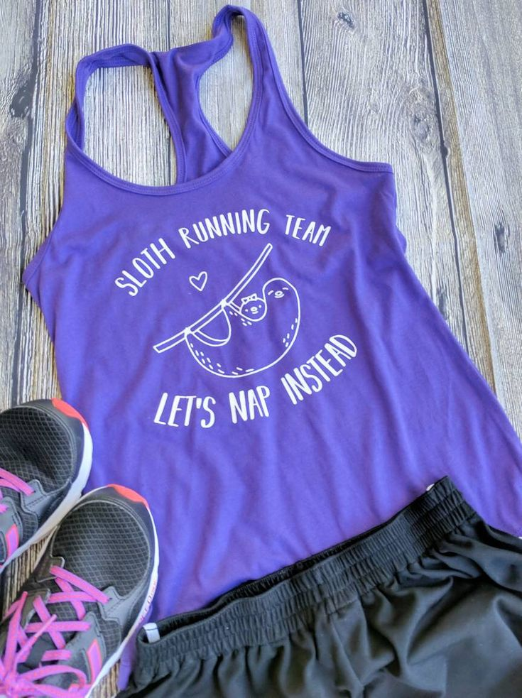 Women's Sloth shirt, sloth t-shirt, sloth tank top, sloth running team, funny t shirts, womens sloth shirt, gifts for mom by KaitlynGKreations on Etsy https://www.etsy.com/listing/562455839/womens-sloth-shirt-sloth-t-shirt-sloth