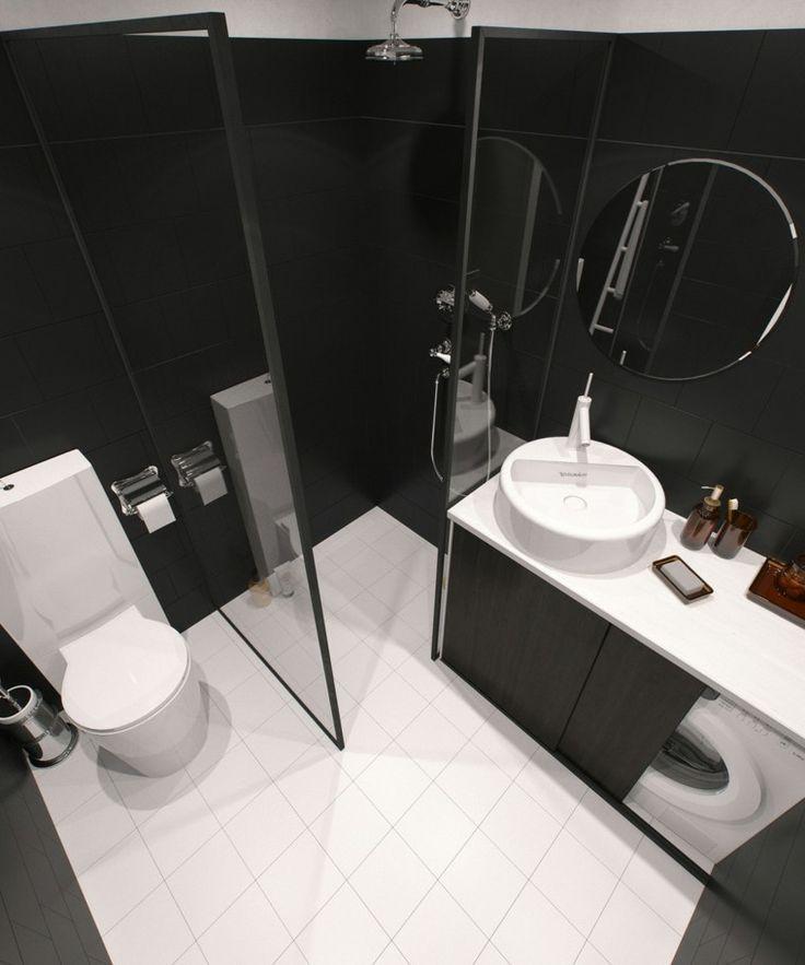 déco de toillettes et salle de bain de petit appartement