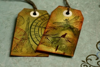 Love making Distress tags- Kaszazz Products.