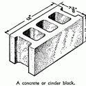 concrete cinder blocks weight