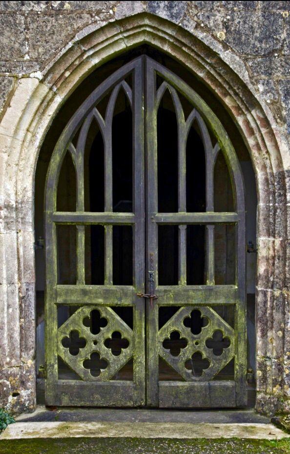 Kingscote Gloucestershire England Old Door Weathered
