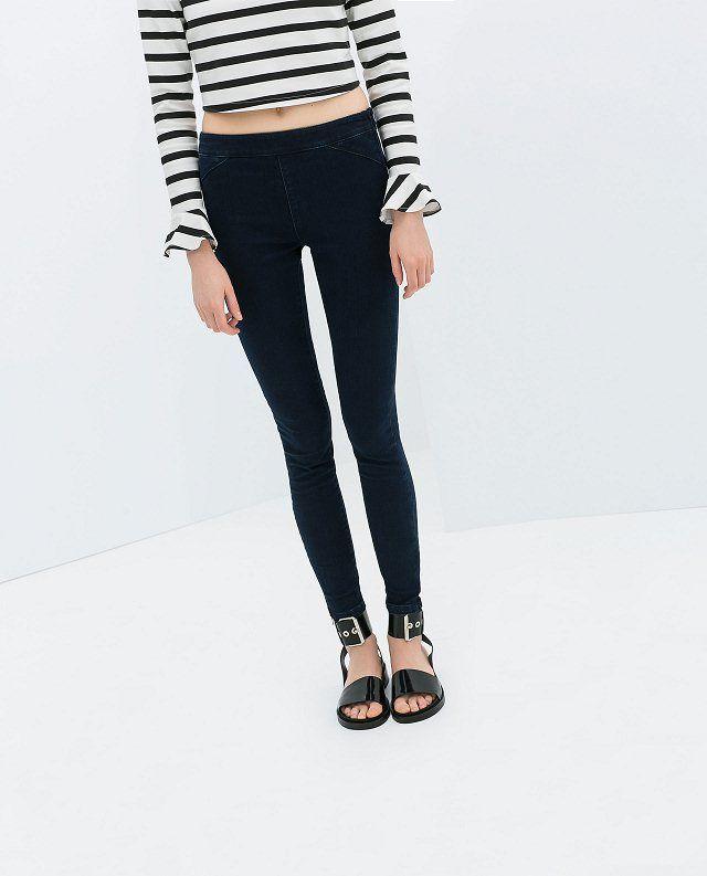 Зара MICN новых 2014 весной и летом женские ноги рот молнии карандаш брюки стрейч брюки узкие брюки - Taobao