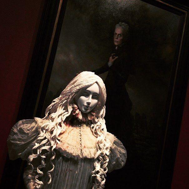 Dress from Crimson Peaks by #guillermodeltoro @artsmia #horror #costume #gothic #movies