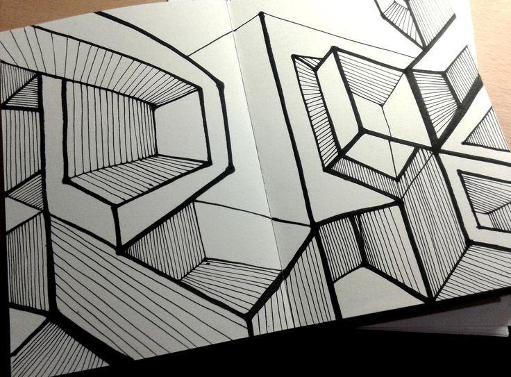 "Ink Sketch -  ""Structures"" - 2014"