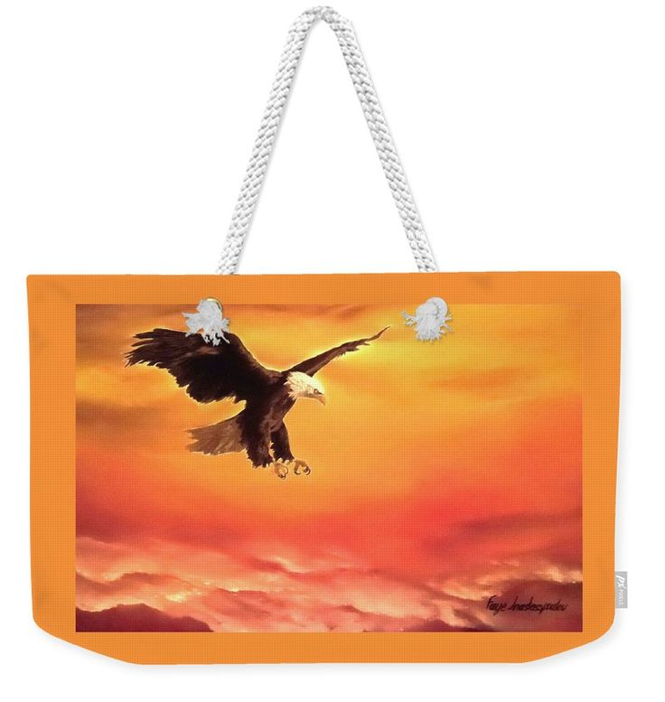 Weekender Tote Bag,  orange,cool,beautiful,fancy,unique,trendy,artistic,awesome,fahionable,unusual,accessories,for,sale,design,items,products,gifts,presents,ideas,eagle,wildlife