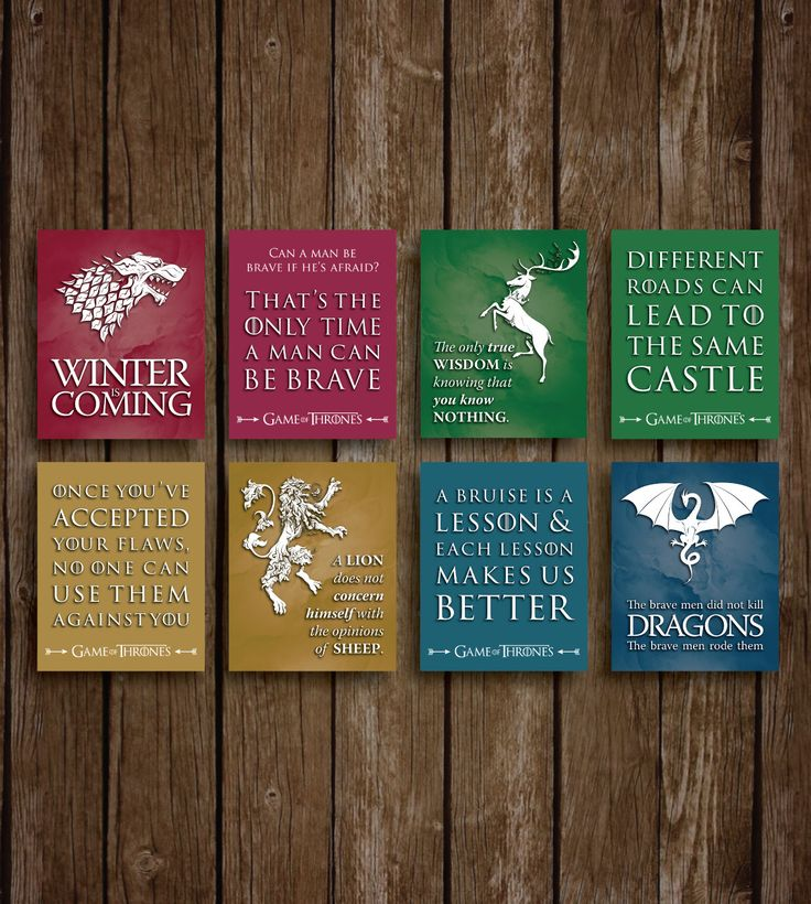 Game of Thrones Wall Art   PRINTABLE Download   Game of Thrones Party Supplies   Game of Thrones Posters   GoT Wall Decor   Winter is Coming by ellums on Etsy