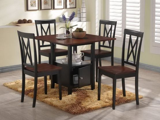 Round Dining Table Black Chairs Kitchen