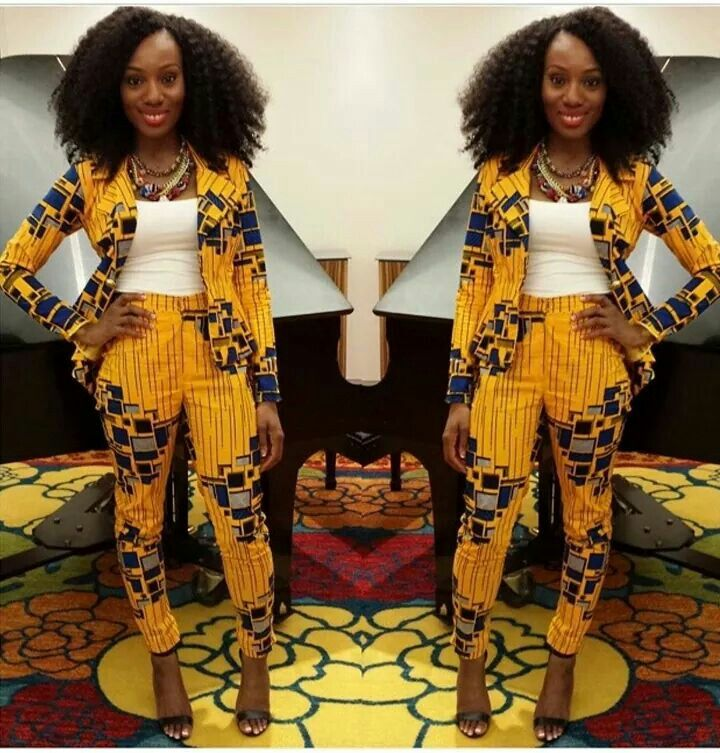 Yellow Print Blazer and High Waist Trouser// Yellow Blazer, High Waist Trouser…