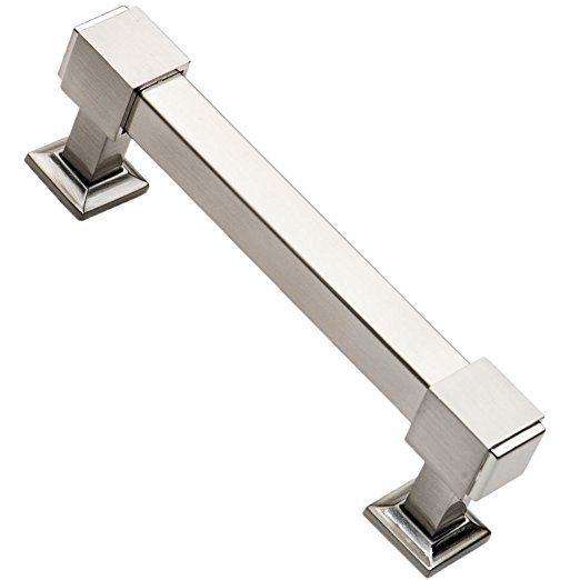 southern hills brushed nickel drawer pulls 4 inch screw spacing pack of 5 handles satin nickel kitchen cabinet pulls