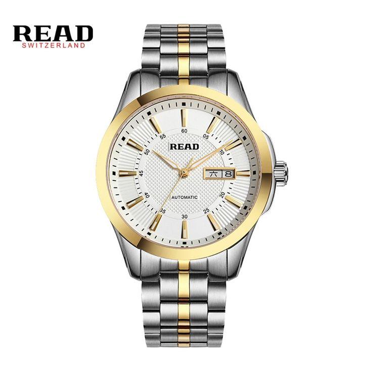 86.69$  Watch now - READ Horloges Mannen Mens Watch Quartz Calendar Date Erkek Kol Saatleri Waterproof Military Diving Watches Full Steel D05  #buyininternet