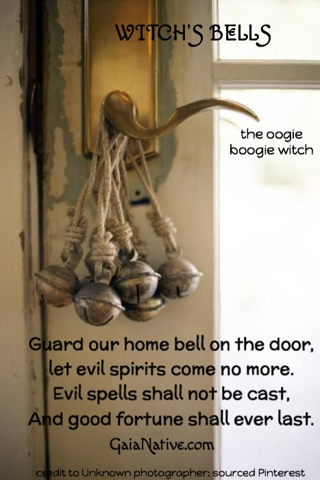 "Bell spell - I would omit the words ""evil spirits"" from this spell, unless that is the specific problem.  Always be exacting in your wording in spell work.  Vague or ambiguous spells will always come back to bite you.  Real Witchcraft."