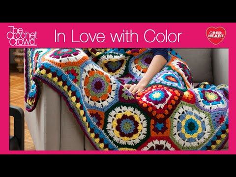 In Love with Color Throw Crochet Pattern | Red Heart