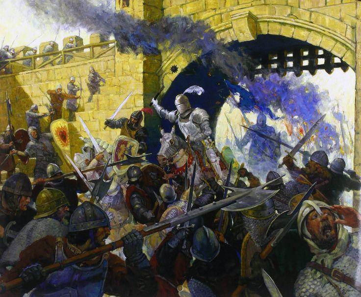 Medieval battle | Medieval War Art | Medieval knight, Game ...