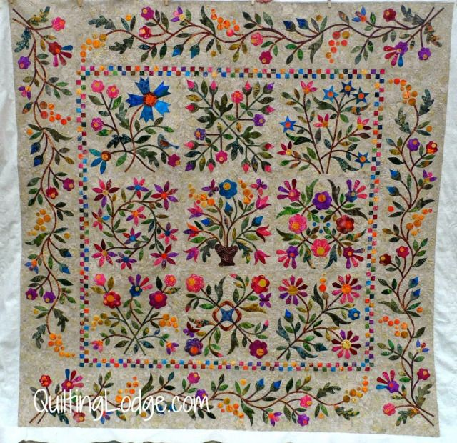 Spring Bouquet Quilt Guild Member Quilted By Orchid Owl