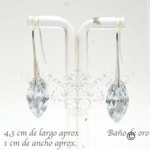 BER_0020 aros de cristal con baño de oro