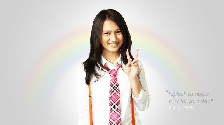 "Melody Nurramdhani Laksani - JKT48 ""I Splash Rainbow to Color Your Day """