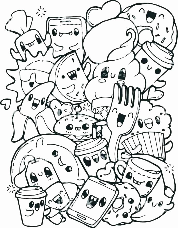 Cute Food Coloring Pages For Kids In 2020 Cute Coloring Pages Doodle Coloring Tumblr Coloring Pages