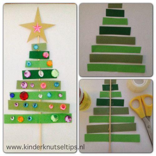 Ook wij komen al aardig in de kerststemming. De echte kerstboom staat dan nog wel niet, we zijn alvast begonnen met het knutselen van kerstversiering. Vanmorgen stond de knutseltip kerstboom knutselen op het programma. www.kinderknutseltips.nl