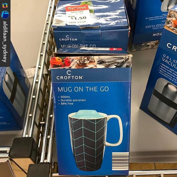 @aldifaan_sydney has spotted these durable porcelain 'Mug on the go'  reduced to #halfprice from $3 down to $1.50 #onsale at #Aldi check your local store for stock.