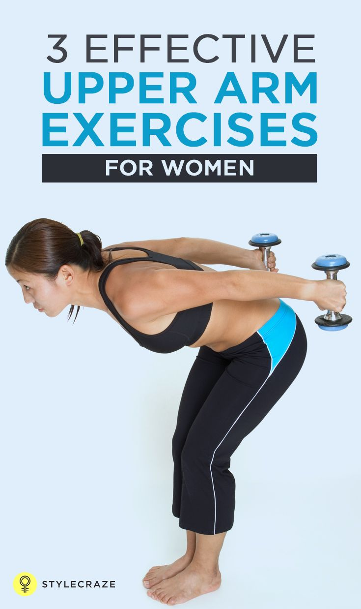 Upper Arm Exercises For Women: Let us have a look at the 3 effective upper arm exercises for women:  But wait, here we have 3 moves to get rid of that dreaded arm flab and tone and sculpt those triceps into beautiful curves. According American Fitness Council (ACE), these effective exercises give the best results in the shortest time.