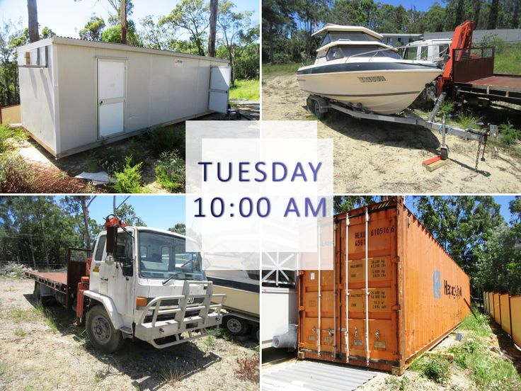 Portable buildings fitted with two bedrooms and ensuite, 40 foot shipping container and Hane Hunter boat - get bidding online NOW! https://goo.gl/gnh7K5?utm_content=bufferadf49&utm_medium=social&utm_source=pinterest.com&utm_campaign=buffer