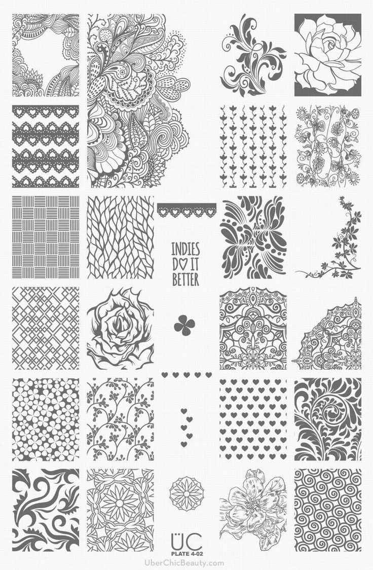 55 Best Stamping Plates Images On Pinterest Image Plate Nail Art