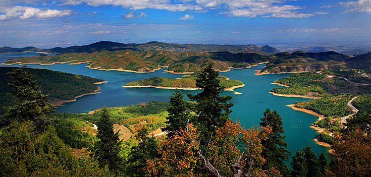 The picturesque #Lake Plastira in the Agrafa #Mountains, Thessaly, #Greece.