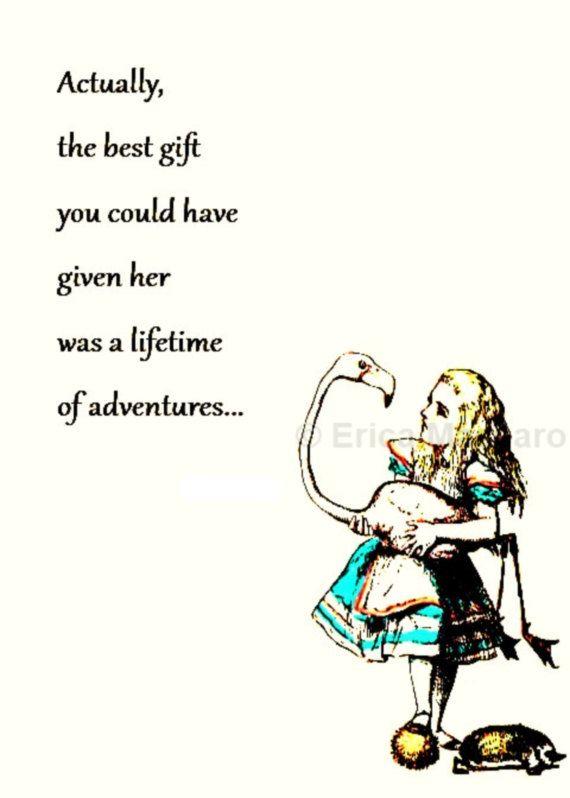 Alice in Wonderland Quotes Wonderland by EDMPrintedEphemera, $10.00