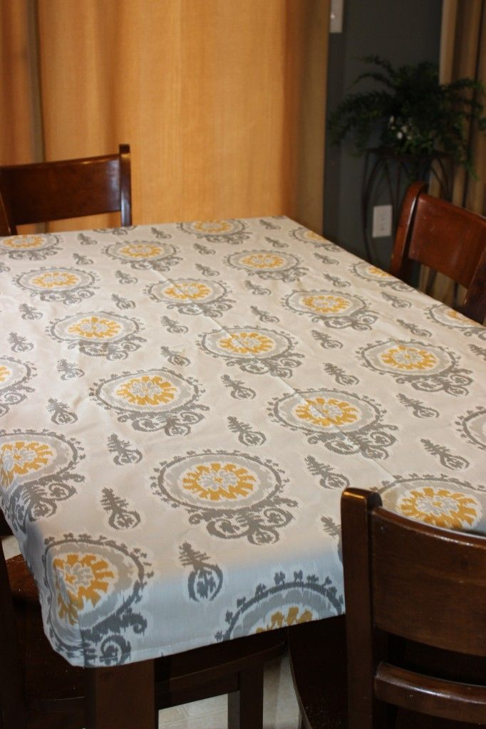 Make a fitted tablecloth in under an hour.