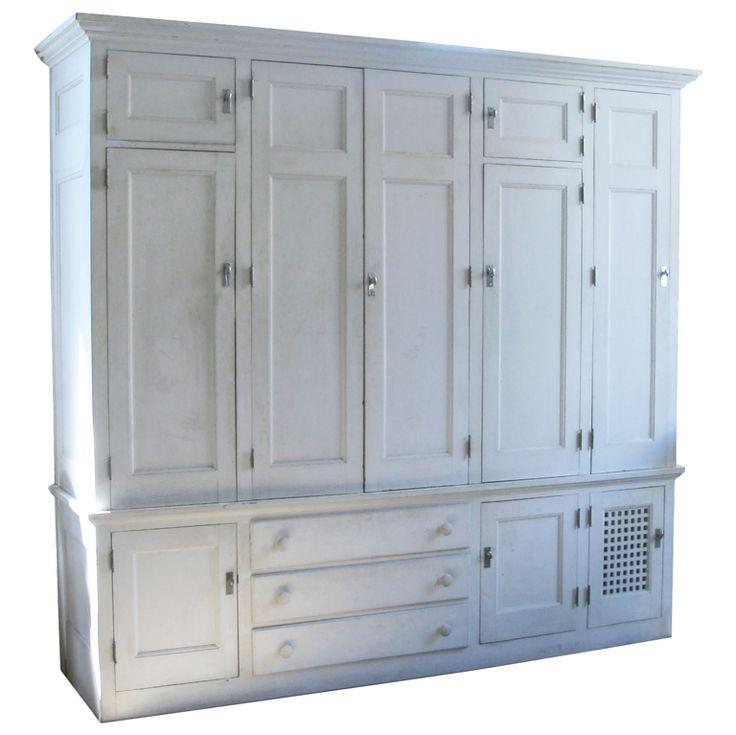 Cedar Lined Freestanding Armoire Closet USA 1920u0027s