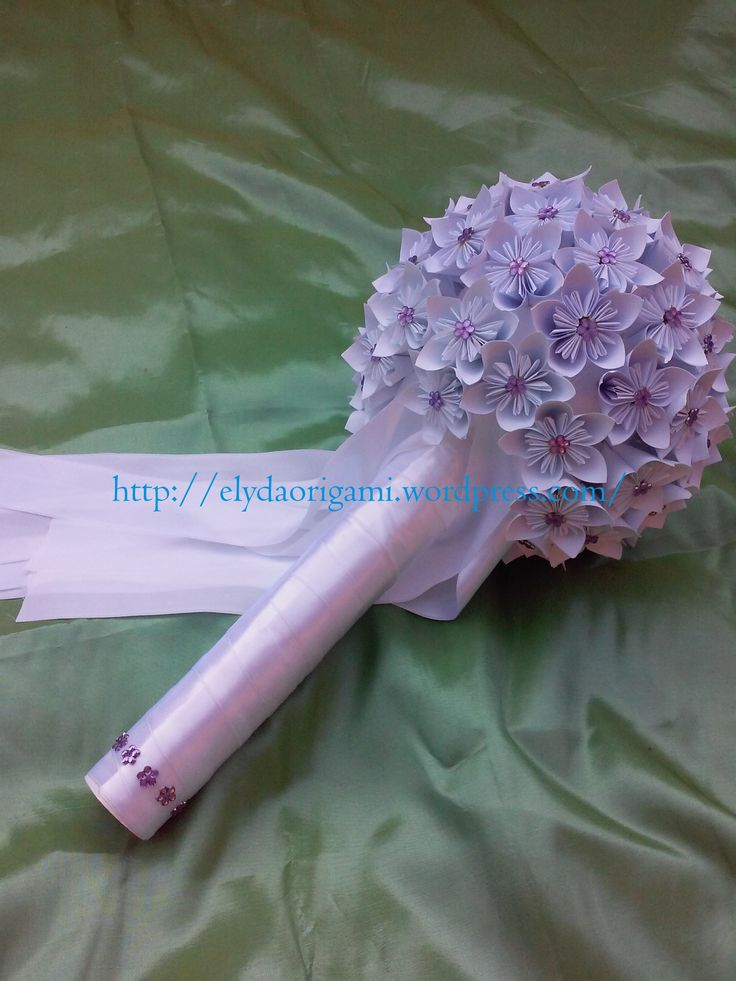 buchet de mireasa din hartie, buchet origami, origami wedding, origami paper flowers