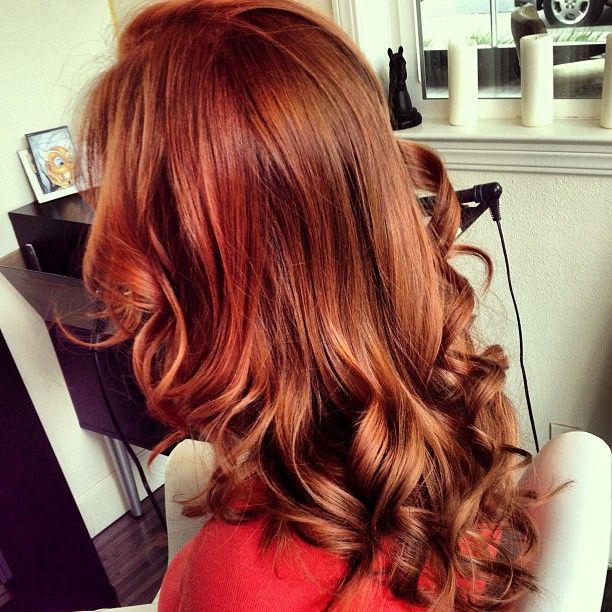 beautiful auburn red hair #colour
