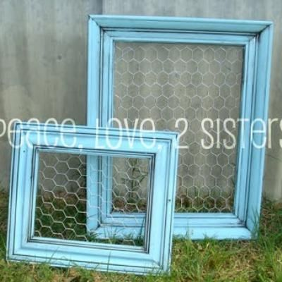 I am re-doing my big girls rooms and all these ideas look so fun!!  -jewelry holder or a note holder using an old frame and some chicken wire