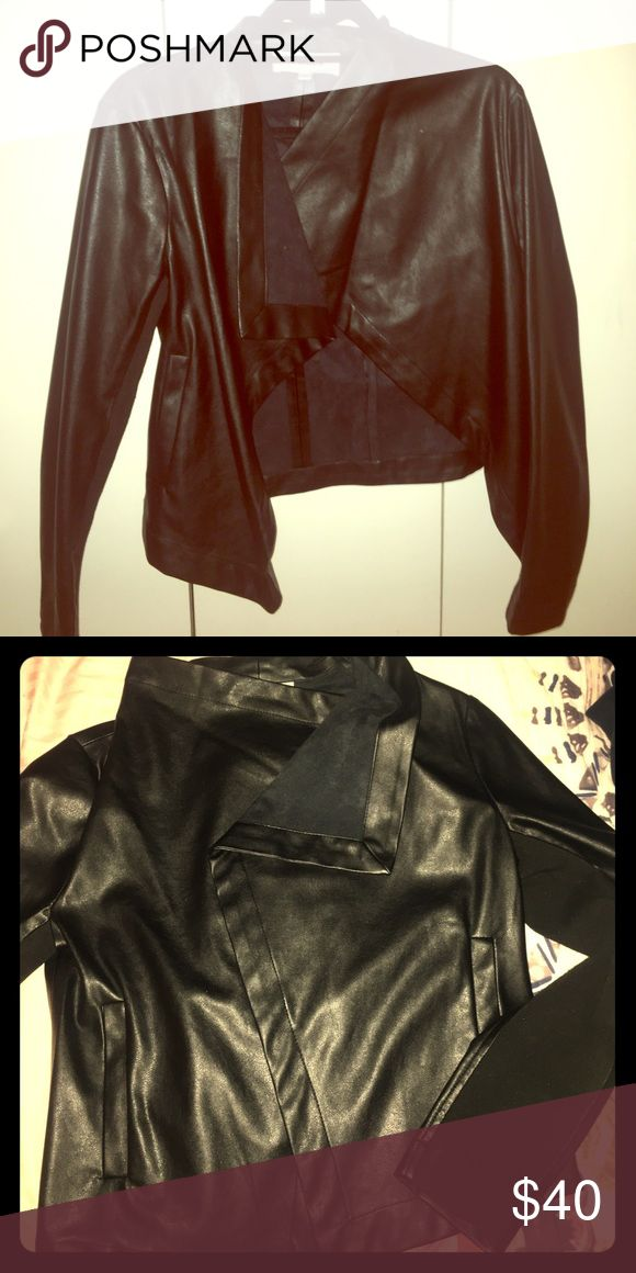 BB Dakota Jacket Size Small BB Dakota faux leather jacket, perfect for over dresses or with denim. BB Dakota Jackets & Coats Blazers