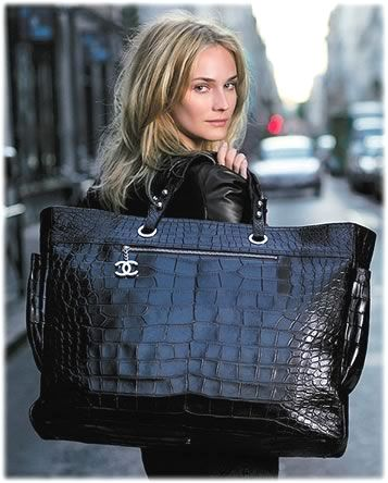 ♥Chanel♥ Chanel Croc Biarritz, Forbes reports that there are three of these in Chanel NYC, two in Chanel LA, and three more wandering around select Neiman Marcus locations. Coming in at US$45,000