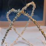 Calla Lily & Crystal Beads Orthodox Wedding Crown
