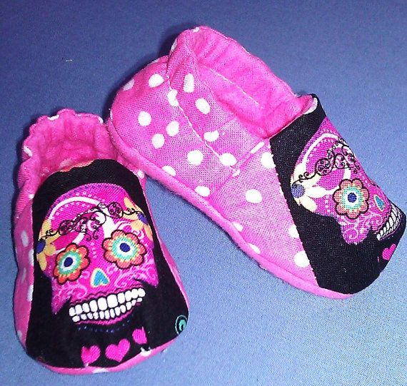 Day of the Dead Rockabilly Baby Girl Scull by BABYRAGQUILTS, $18.00