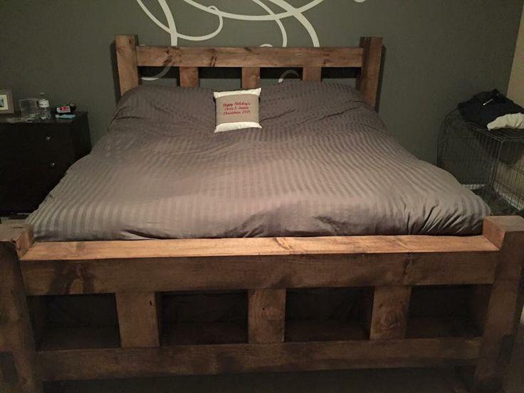 6x6 Post King Bed Frame Diy King Bed Frame Bed Frame