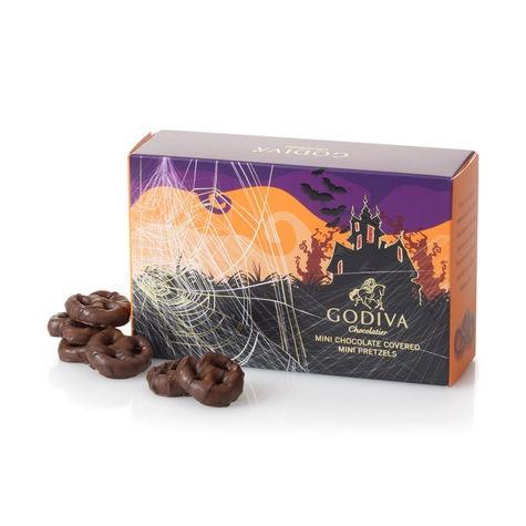 This is my favorite chocolate! This tastes sweet and salty. @ #frightfulfaves Godiva Chocolatier Halloween Pretzel Box. $5. @Godiva Chocolatier