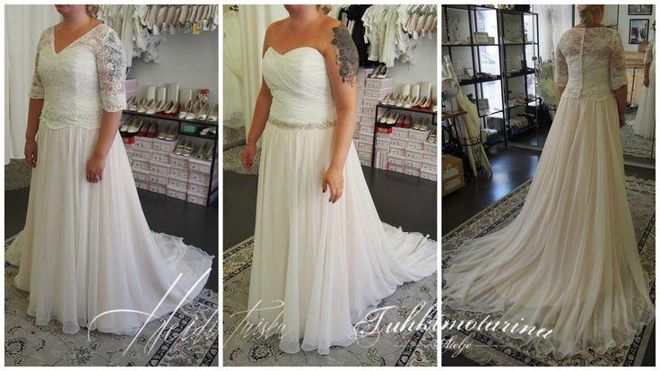 2 tone chiffon dress with detachable bolero